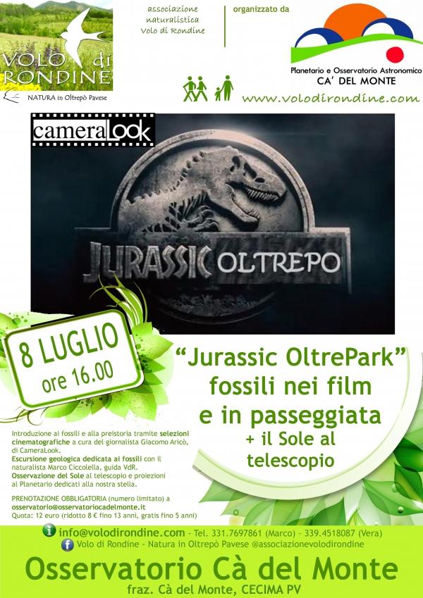 Domenica 8 luglio - ore 16.00 Jurassic OltrePark  Passeggiata naturalistica  e conferenza   (il Giurassico tra Cinema e realtà)