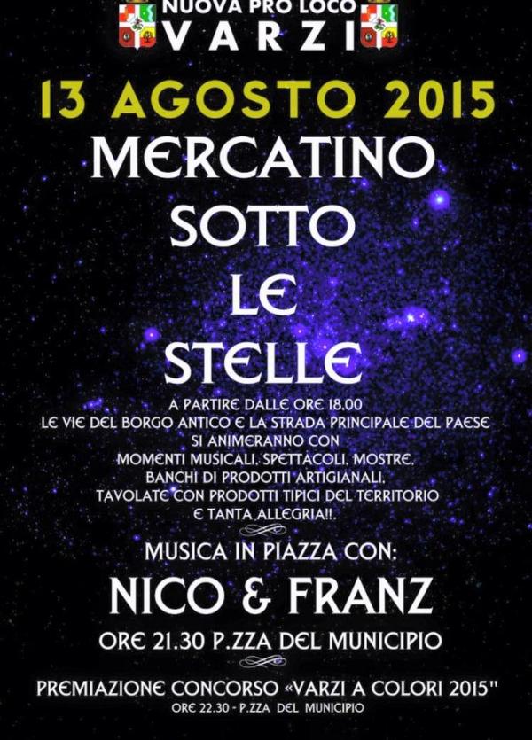 Mercatino sotto le stelle 2015 a Varzi